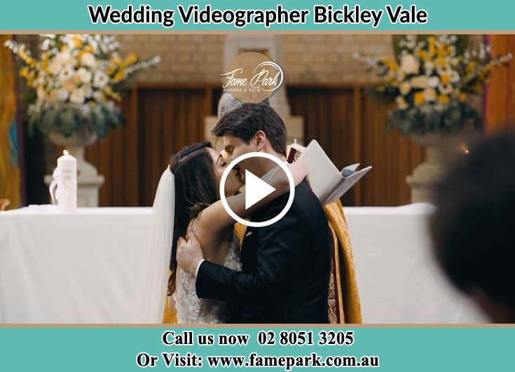 Bride and Groom kissed at the altar Bickley Vale NSW 2570