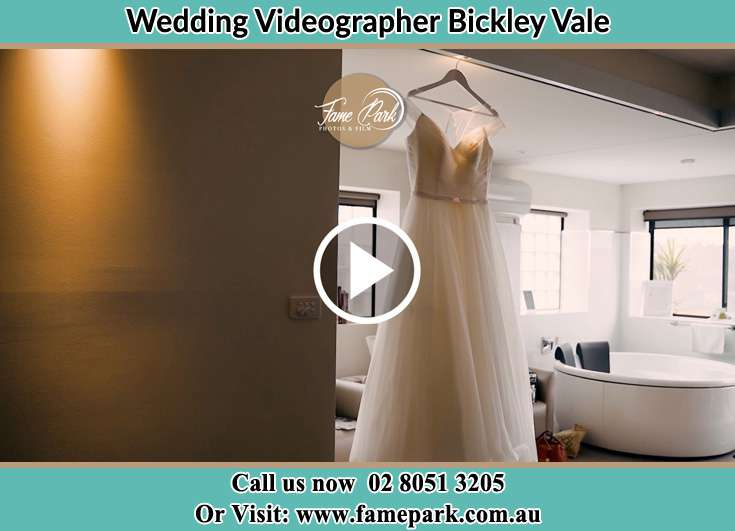 Bride's wedding gown Bickley Vale NSW 2570