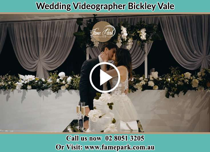 Bride and Groom kissed at the reception Bickley Vale NSW 2570