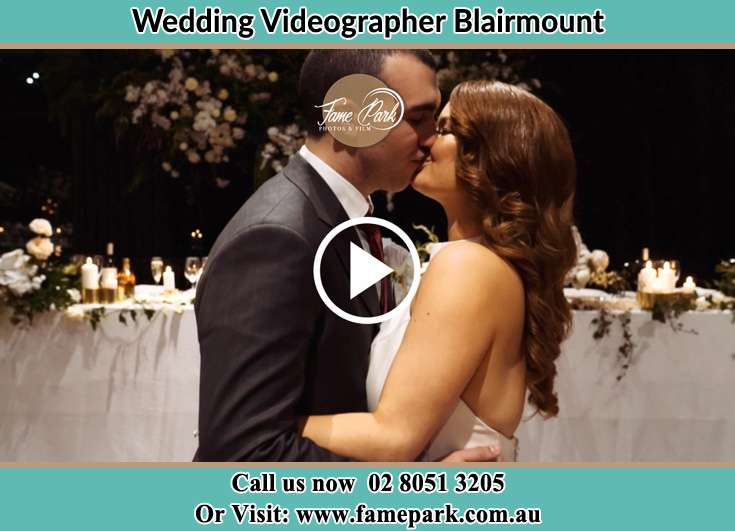 Bride and Groom kissed at the reception Blairmount NSW 2559