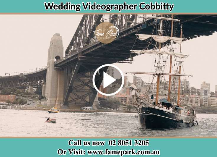 Bride and Groom boat ride Cobbitty NSW 2570
