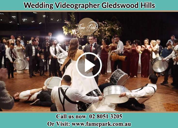 The new couple dancing on the dance floor with the band Gledswood Hills NSW 2557