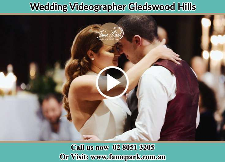The newlyweds dancing on the dance floor Gledswood Hills NSW 2557