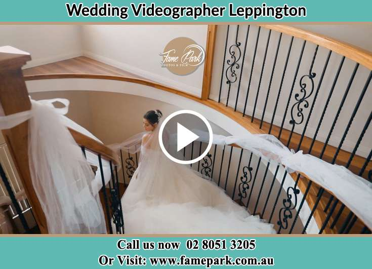 The Bride walking downstairs Leppington NSW 2179