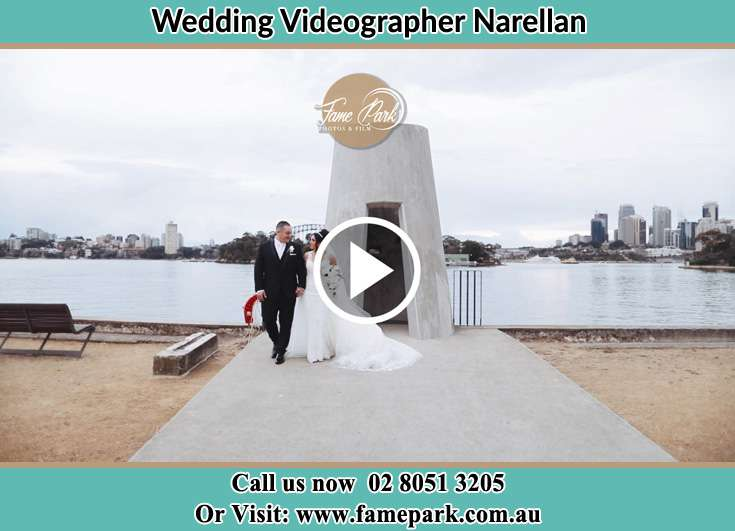 The Groom and the Bride walking away from the shore Narellan NSW 2567