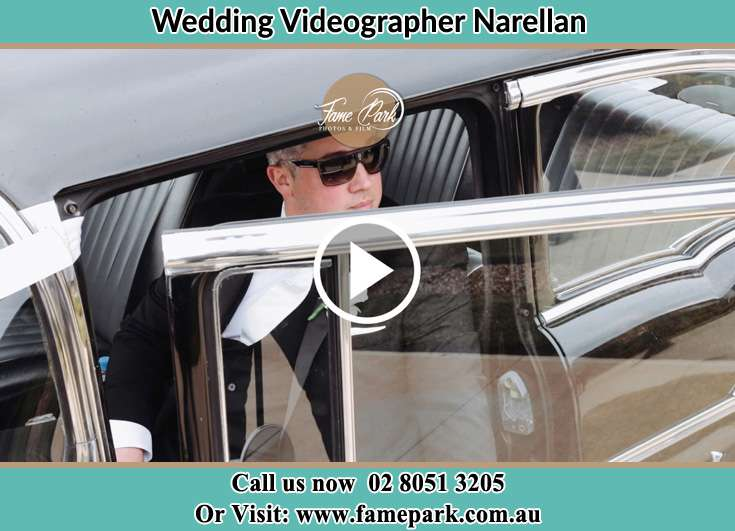The Groom getting out of the car Narellan NSW 2567