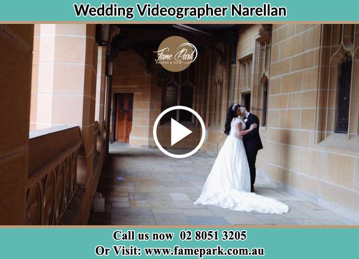 The newlyweds kissing in the hallway Narellan NSW 2567
