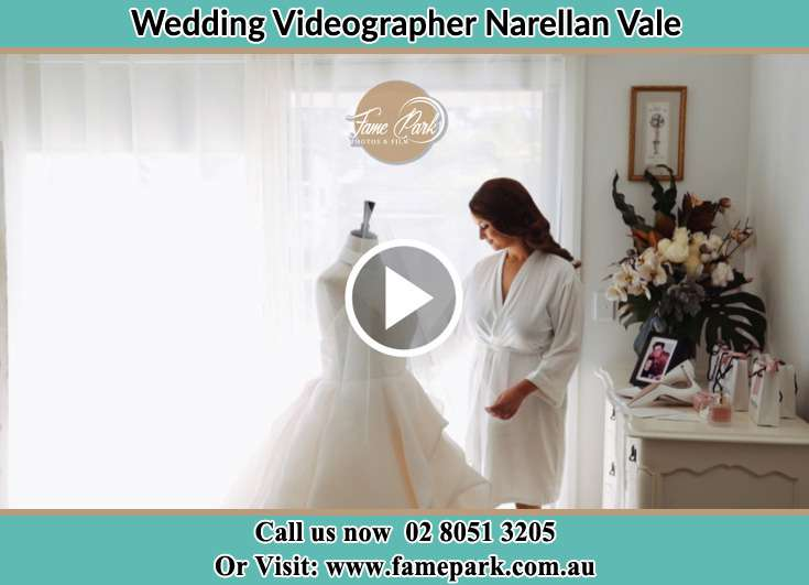 The Bride checking her bridal dress Narellan Vale NSW 2567