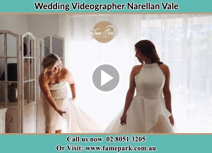 A woman preparing the Bride for the wedding Narellan Vale NSW 2567