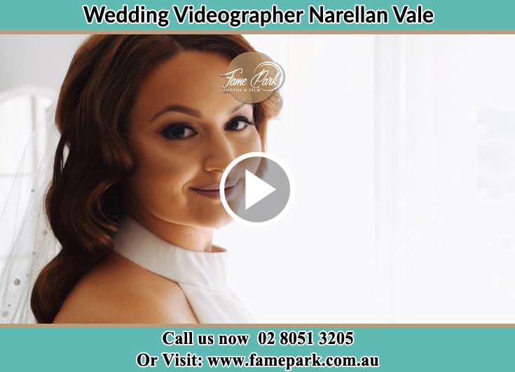 The Bride smiling for the camera Narellan Vale NSW 2567