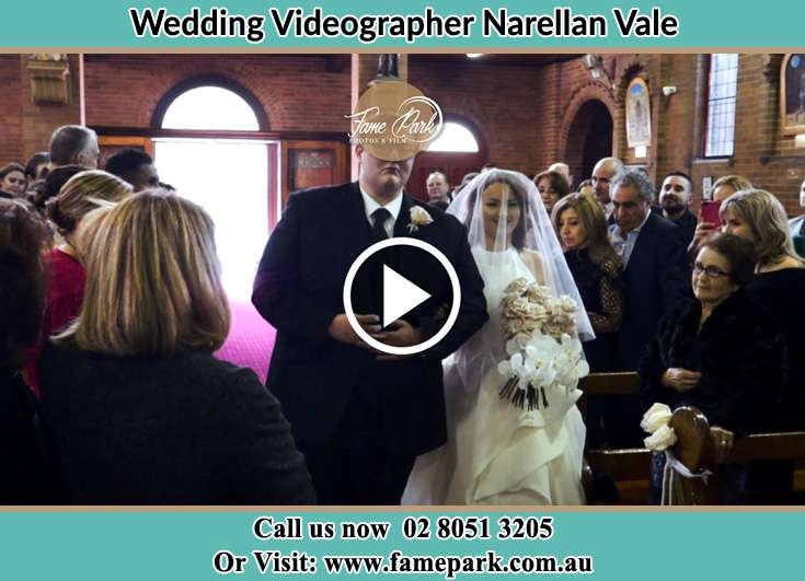 The Bride walking down the aisle with her father Narellan Vale NSW 2567