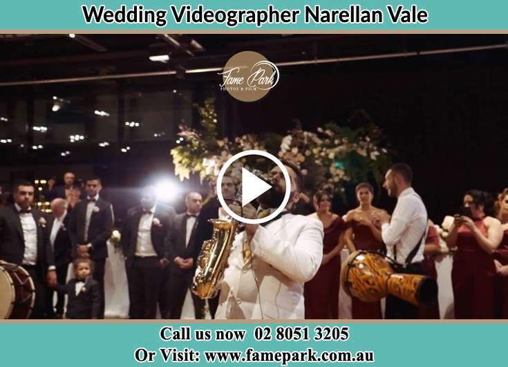 The Groom playing the sax Narellan Vale NSW 2567