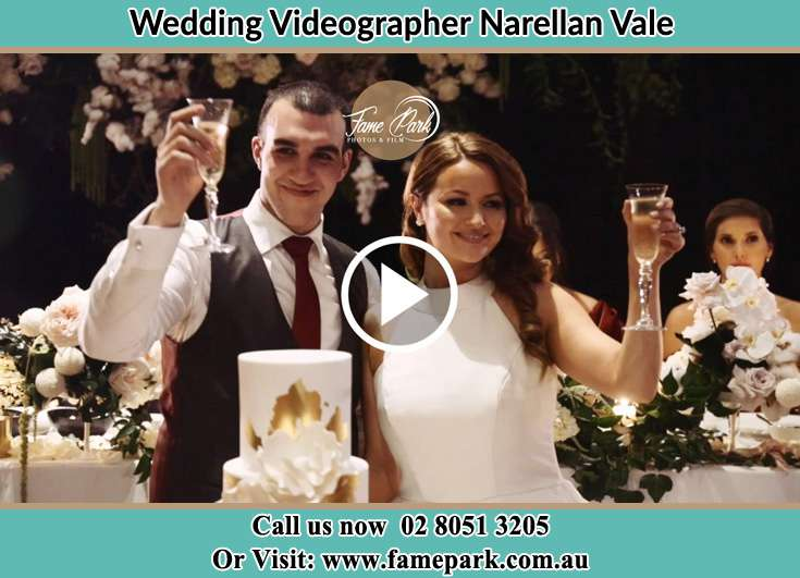 The newlyweds offering a toast to everyone Narellan Vale NSW 2567