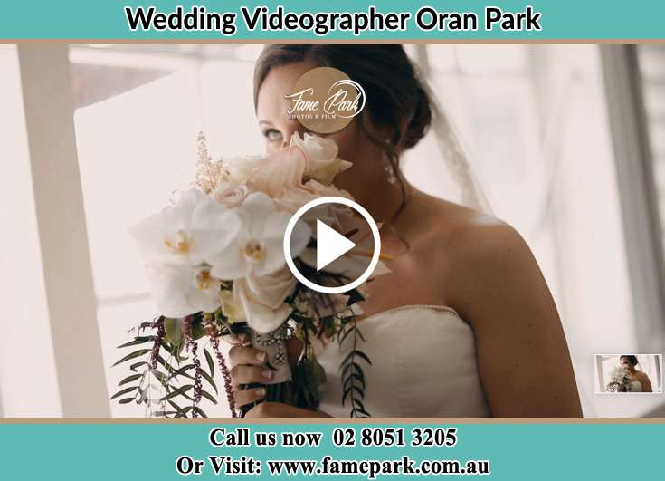 The Bride holding a bouquet of flowers Oran Park NSW 2570