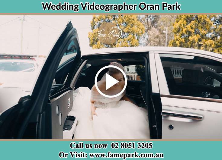 The Bride going out the Bridal car Oran Park NSW 2570