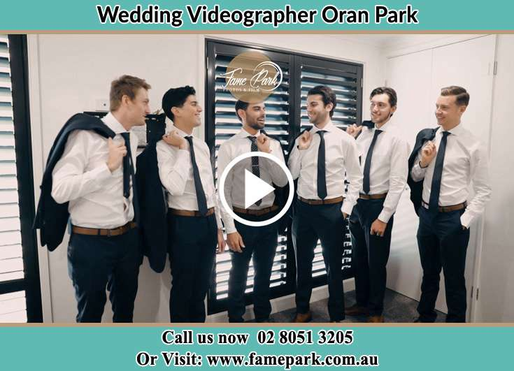 The groom with his friends Oran Park NSW 2570