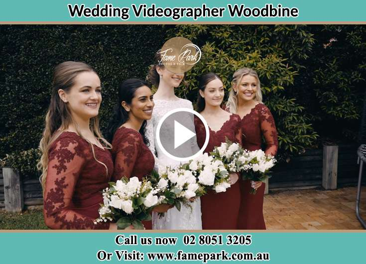 Bride and her secondary sponsors Woodbine NSW 2560