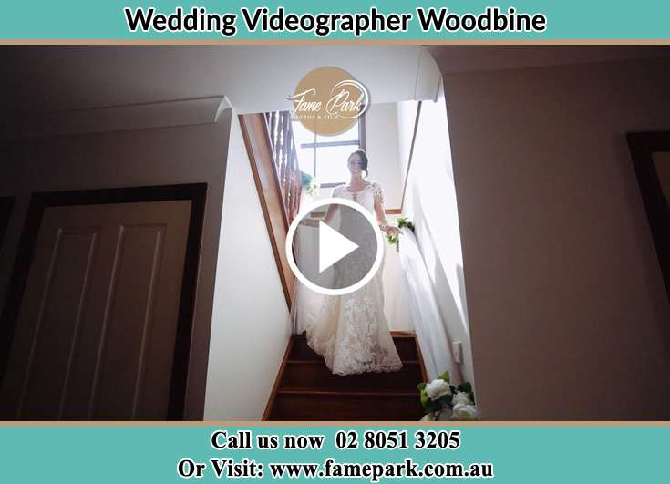 The Bride walking downstairs Woodbine NSW 2560